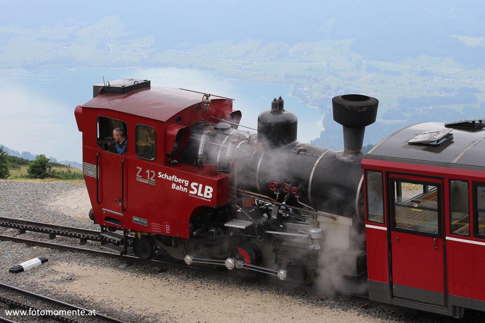 Schafbergbahn SLB am Schafberg naehe Wolfgangsee - Schafbergbahn-SLB am Schafberg nähe Wolfgangsee