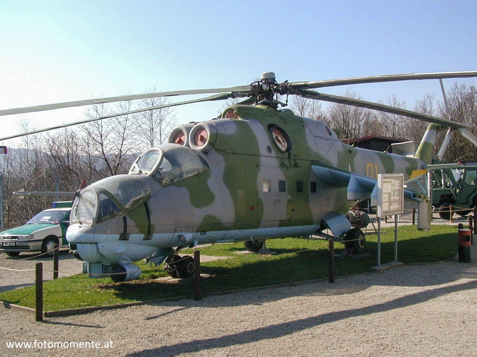 Hubschrauber MI 24 Grenzmuseum Schifflersgrund - Russischer Kampfhubschrauber MI-24 im Grenzmuseum Schifflersgrund