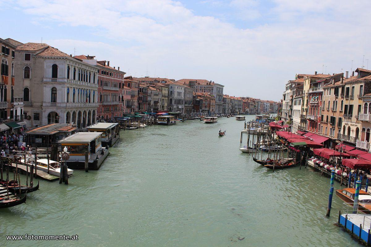 Canal Grande von der Rialtobrücke